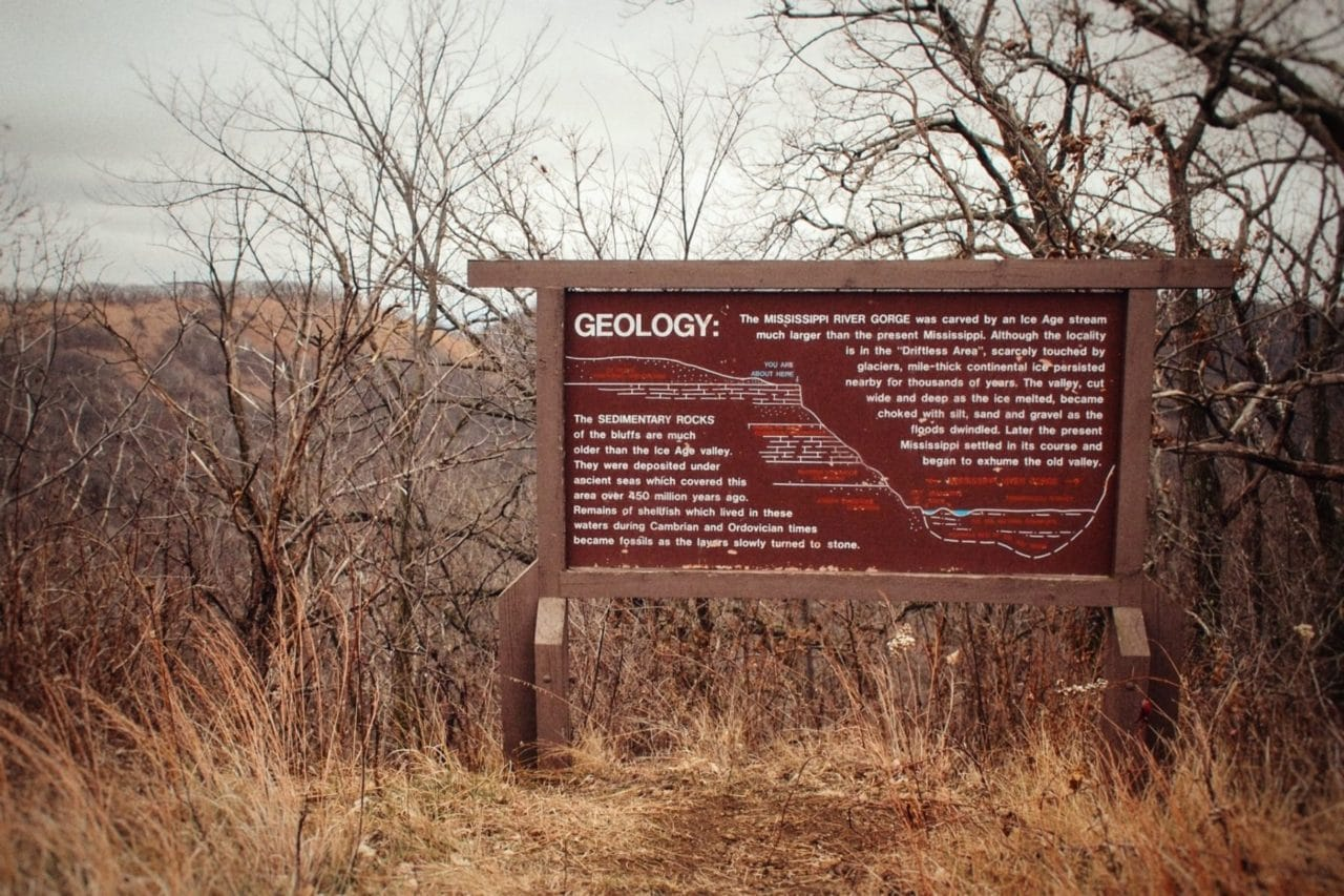 driftless region geology pic
